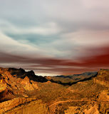 Sonora Desert Mountains. Sunset Sonora desert mountains in central Arizona USA Stock Photography