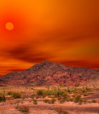 Sonora Desert Mountains Sunset. Sunset Sonora desert mountains in central Arizona USA Royalty Free Stock Images