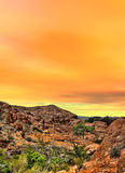 Sonora Desert Mountains. Sunset Sonora desert mountains in central Arizona USA Royalty Free Stock Image