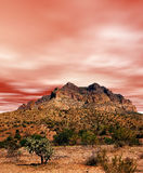 Sonora Desert Mountains. Sunset Sonora desert mountains in central Arizona USA Royalty Free Stock Photo