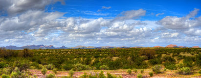 Sonora Desert Panorama. Panorama Sonora desert in central Arizona USA Stock Photography