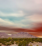 Sonora Desert Sunset. Sunset Sonora desert in central Arizona USA Stock Images