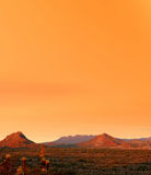 Sonora Desert Sunset. Sunset Sonora desert in central Arizona USA Royalty Free Stock Photos