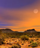 Sonora Desert Sunset. Sunset Sonora desert in central Arizona USA Stock Image