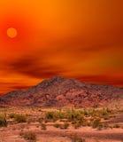 Sonora gór Pustynny zmierzch Obrazy Royalty Free