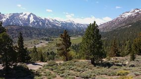 Sonora Pass, Sierra Nevada, California. A beautiful view on Highway 108 (Sonora Pass Royalty Free Stock Image