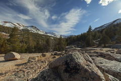 Sonora Pass. In the Sierra Nevada mountains on the Pacific Crest Trail royalty free stock images