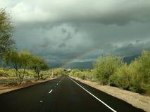 Sonoran沙漠彩虹 库存照片