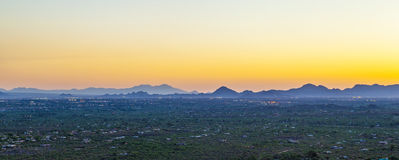 Sonoran Desert in Arizona. Sonoran Desert in sunset near Tuscon, Arizona royalty free stock photo