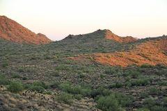 Sonoran Desert. Evening image of mountains of the Sonoran Desert Stock Image