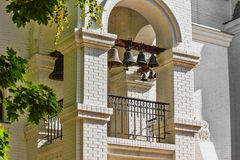 Sonorous bells. In the high bell tower Stock Image