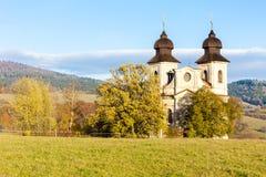 Sonov. Church of Saint Margaret, Sonov near Broumov, Czech Republic Royalty Free Stock Photography