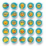 Sonría nunca y por todas partes Iconos móviles stock de ilustración