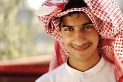 Sonrisa árabe de la persona foto de archivo libre de regalías