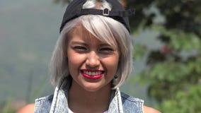 Sonrisa adolescente bastante joven Fotografía de archivo