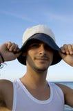 Sonrisa adolescente con un sombrero Imagenes de archivo