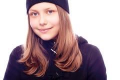 Sonrisa adolescente de la muchacha Foto de archivo libre de regalías