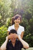 Sonrisa adolescente de los pares Imagen de archivo libre de regalías