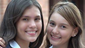 Sonrisa adolescente feliz de las muchachas Imagen de archivo