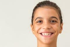 Sonrisa adolescente joven de la muchacha Foto de archivo