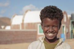 Sonrisa africana del niño Fotografía de archivo libre de regalías