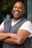 Sonrisa afroamericana del hombre fotografía de archivo libre de regalías