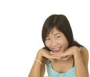 Sonrisa agradable en mujer asiática Fotos de archivo libres de regalías