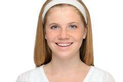 Sonrisa alegre de la muchacha del adolescente Imagenes de archivo