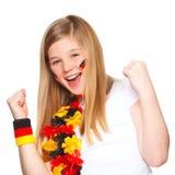 Sonrisa alemana del ventilador de fútbol Fotografía de archivo
