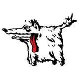 Sonrisa amistosa del perro de la historieta divertida ilustración del vector