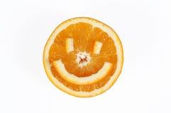 Sonrisa anaranjada imagen de archivo libre de regalías