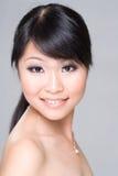 Sonrisa asiática de la belleza Imagenes de archivo