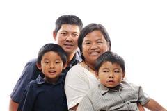 Sonrisa asiática de la familia Fotografía de archivo libre de regalías