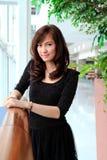 Sonrisa asiática hermosa de la mujer Fotografía de archivo libre de regalías