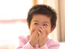 Sonrisa asiática del niño Foto de archivo