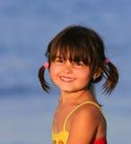 Sonrisa asoleada Imagen de archivo libre de regalías