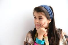 Sonrisa blanca paciente de la chica joven fotos de archivo libres de regalías