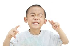 Sonrisa boba de los niños Foto de archivo libre de regalías