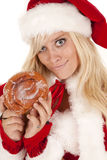 Sonrisa boba del buñuelo de señora santa Foto de archivo libre de regalías