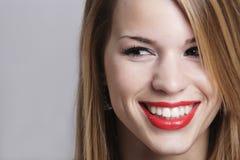 Sonrisa bonita de la muchacha Imagenes de archivo