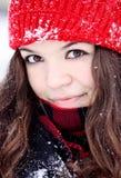 Sonrisa bonita joven de la mujer Imagen de archivo libre de regalías