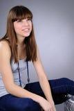 Sonrisa caucásica de la muchacha Fotos de archivo libres de regalías