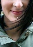 Sonrisa con la perforación Fotografía de archivo