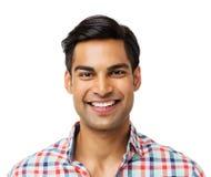 Sonrisa confiada del hombre joven foto de archivo libre de regalías
