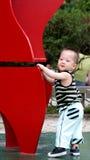 Sonrisa coreana del bebé Imagen de archivo