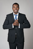 Sonrisa dando la bienvenida al hombre de negocios Fotos de archivo libres de regalías
