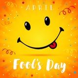 Sonrisa de April Fools Day Imagen de archivo