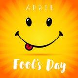 Sonrisa de April Fools Day Fotografía de archivo libre de regalías
