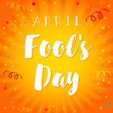 Sonrisa de April Fools Day Imagen de archivo libre de regalías