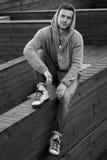 Sonrisa de Black&white Imagen de archivo libre de regalías